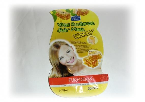 Отзывы об азиатской косметике: Маска для волос с медом от Purederm (Purederm Vital Radiance Hair Mask #Honey)