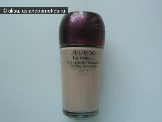 Отзывы об азиатской косметике: Shiseido – жидкая тональная основа двойного действия  SPF 15