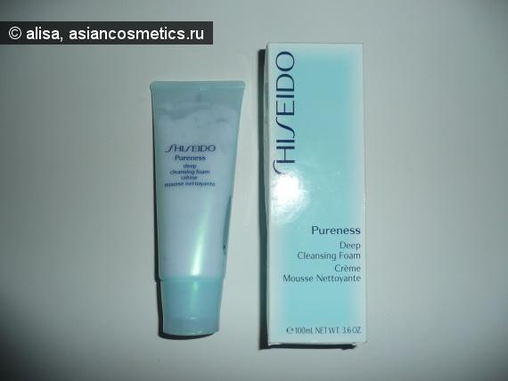 Отзывы об азиатской косметике: Пенка для глубокого очищения кожи от Shiseido