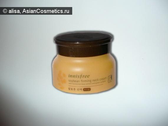 Отзывы об азиатской косметике: Крем для шеи Innisfree Soybean Firming Neck Cream