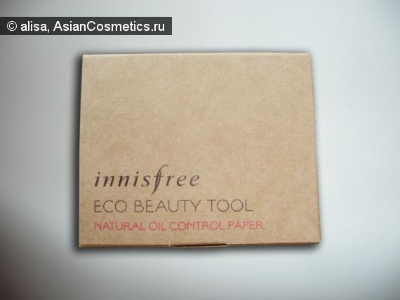 Отзывы об азиатской косметике: Матирующие салфетки Innisfree Eco Beauty Natural Oil Control Blotting Paper