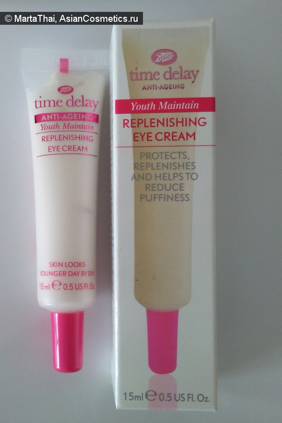 Отзывы: Аnti ageing replenishing eye cream от Boots