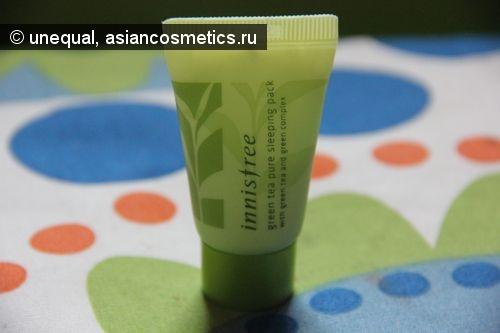 Отзывы об азиатской косметике: Ночная маска-крем Innisfree Green Tea Pure Sleeping Pack