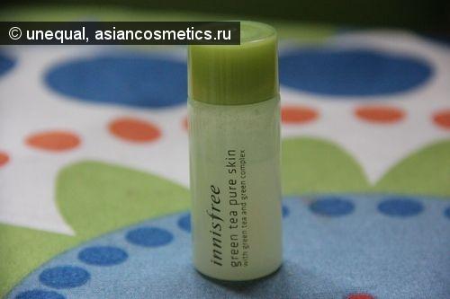 Отзывы об азиатской косметике: Тоник для лица с зеленым чаем Innisfree Green tea pure skin