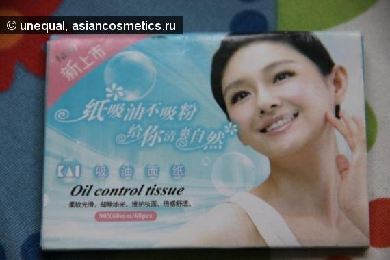 Отзывы об азиатской косметике: Голубые матирующие салфетки Facial Oil Control Tissue Blotting Papers Oil Absorbing Tissues 60 штук