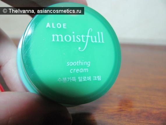 Отзывы об азиатской косметике: Moistfull aloe soothing cream от Etude House