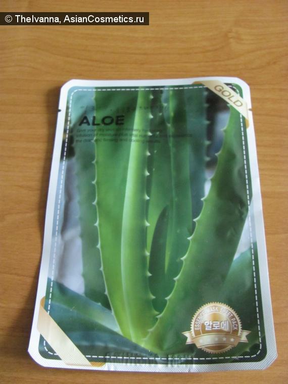 Отзывы об азиатской косметике: Pure Label Aloe – освежающая тканевая маска с алое