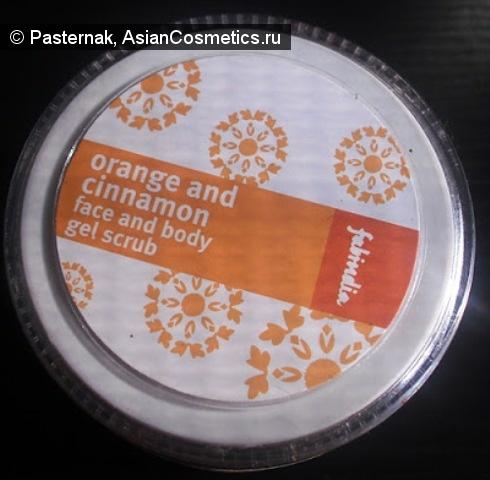 Отзывы об азиатской косметике: Благоухание апельсина и корицы в Fab India Orange and Cinnamon face and body gel scrub