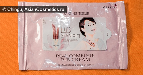 Отзывы: Салфетки MISSHA Cleansing Tissue Real complete BB Cream отзыв