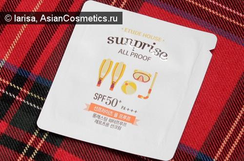 Отзывы: Солнцезащитный крем «Sunprise All Proof SPF50+/PA+++» от «Etude House»