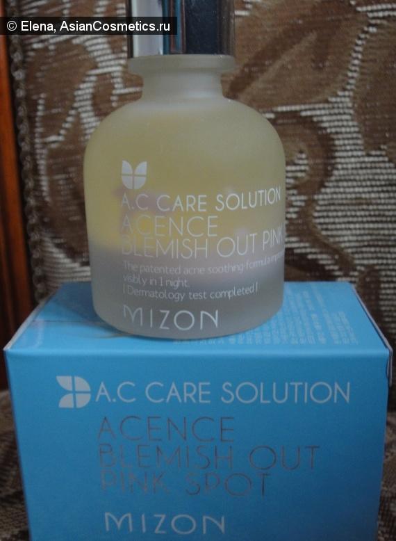 Отзывы: MIZON Acence blemish out pink spot — Точечное средство для уменьшения воспалений