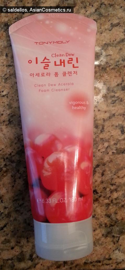 Отзывы: Аромат и эффект в одном флаконе: пенка для умывания TonyMoly Clean Dew Acerola Foam Cleanser